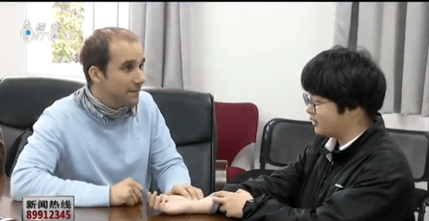 Consulting a foreign patient in China