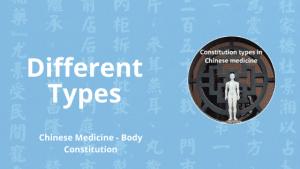 chinese medicine constitution types