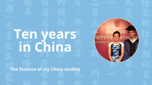 ten years tcm study in china