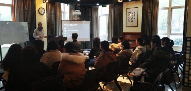 Lecturing at Zhejiang Chinese Medical University